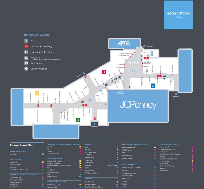 Morgantown Mall Shopping Plan Morgantown West Virginia Mall