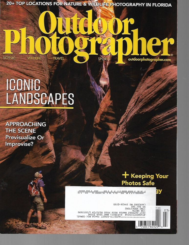 Outdoor Photographer Magazine Current Issues March 2018