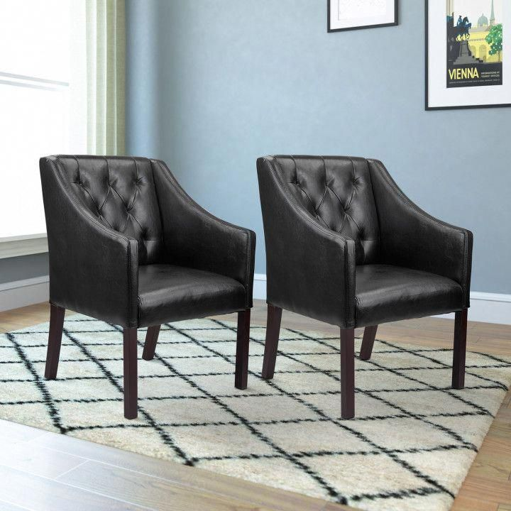 2 Accent Chairs and Table Set - Best Cheap Modern Furniture