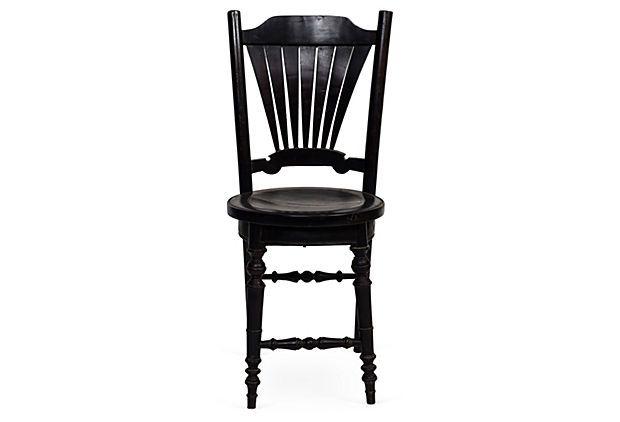 Ebony Wood Cavalier Chair w/ Fan Back on OneKingsLane.com