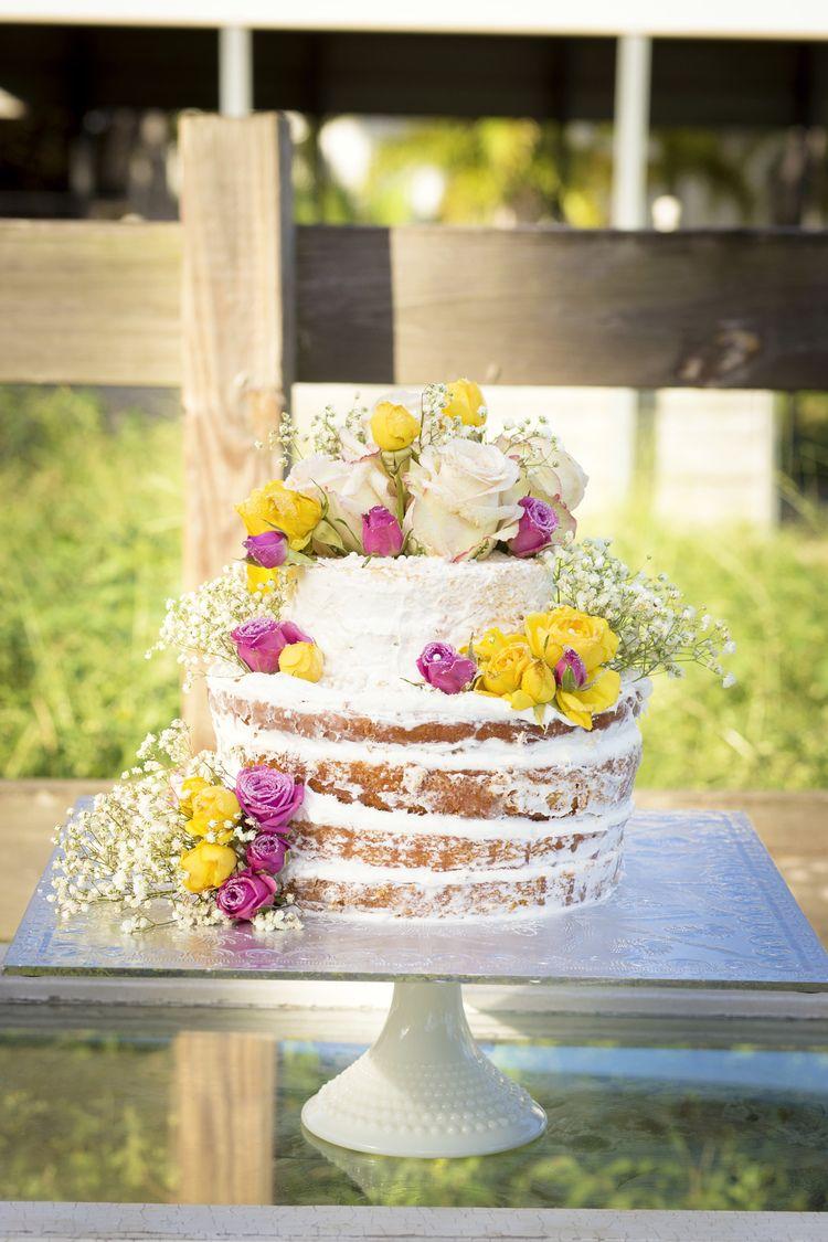 Naked Cake | Rustic Country Chic Wedding | Miami Photographer | Liz ...