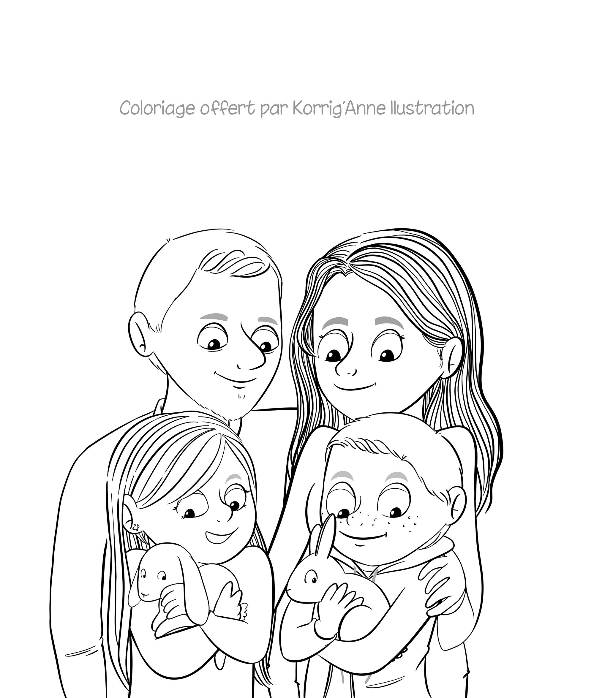 Famille à colorier coloriage   Coloriage gratuit, Coloriage ...