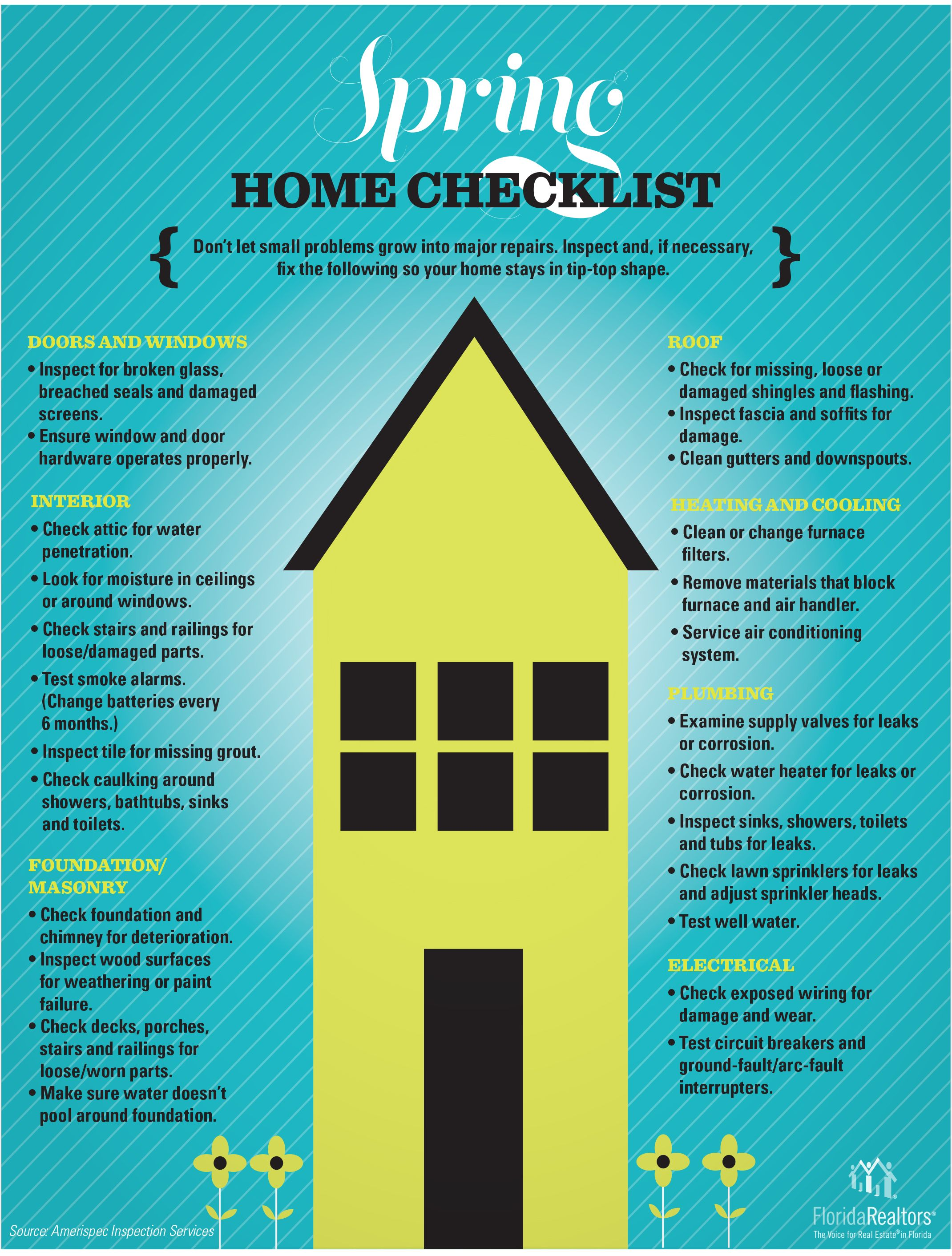 Spring cleaning home inspection real estate tips