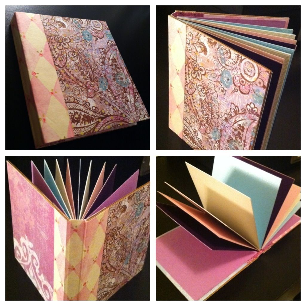 I mini book i made from scraps of paper and cardboard for the front and back cover. (3.5x4)