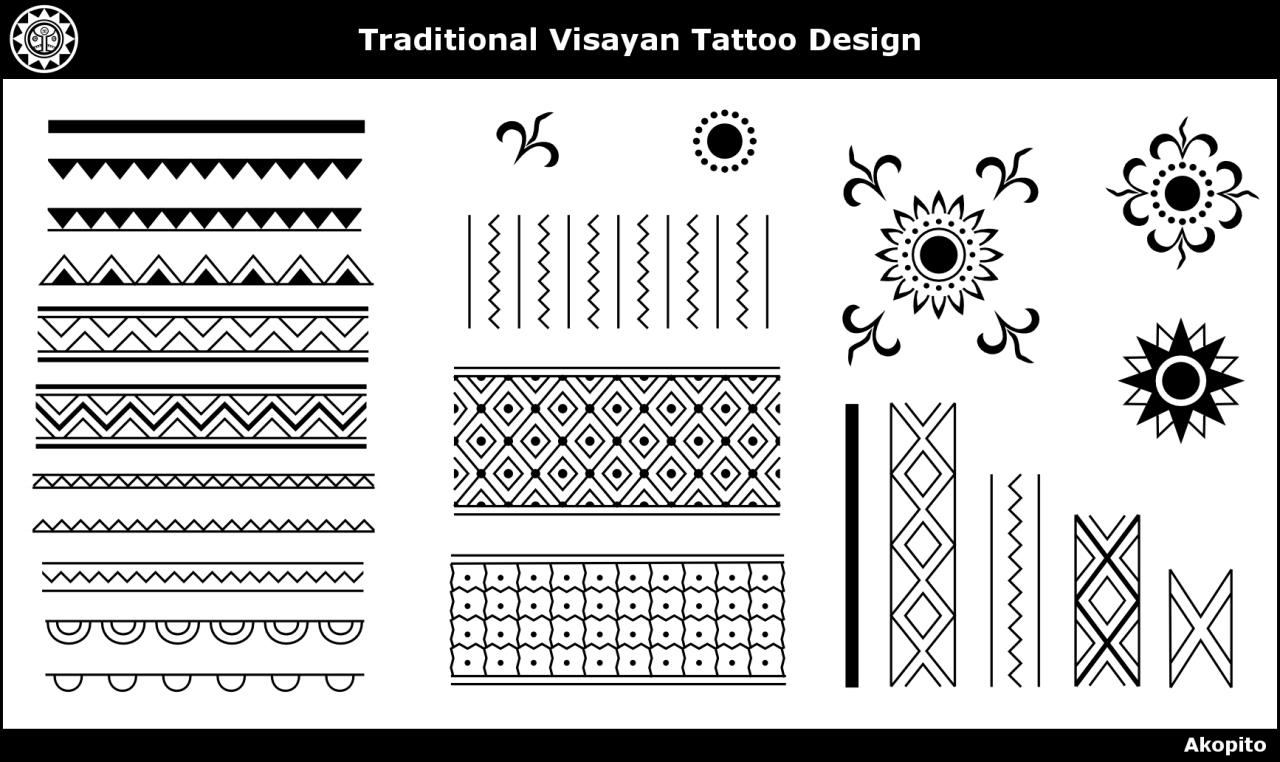 Akopito — Visayan Tattoo design (The marking of snake and