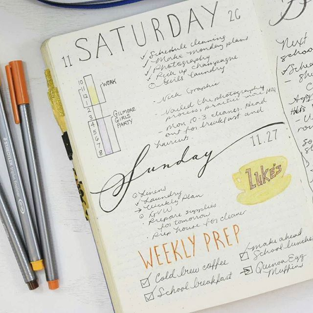 Bullet journal and Gilmore Girls