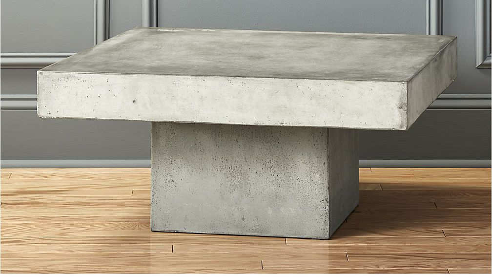 element rectangular grey concrete coffee table concrete coffee table concrete and coffee - Cb2 Element Couchtisch