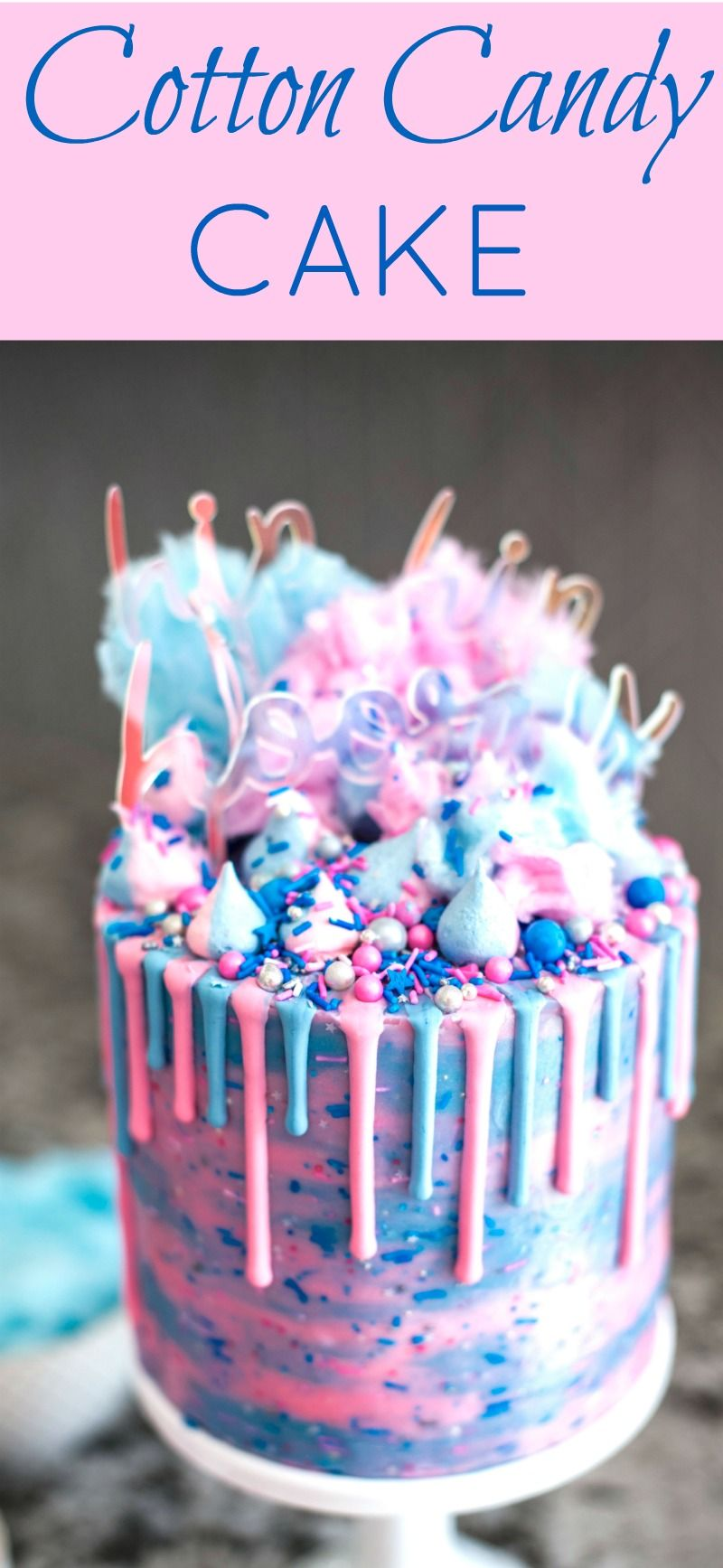 Cotton Candy Cake Recipe Cotton Candy Candy Cakes Cotton