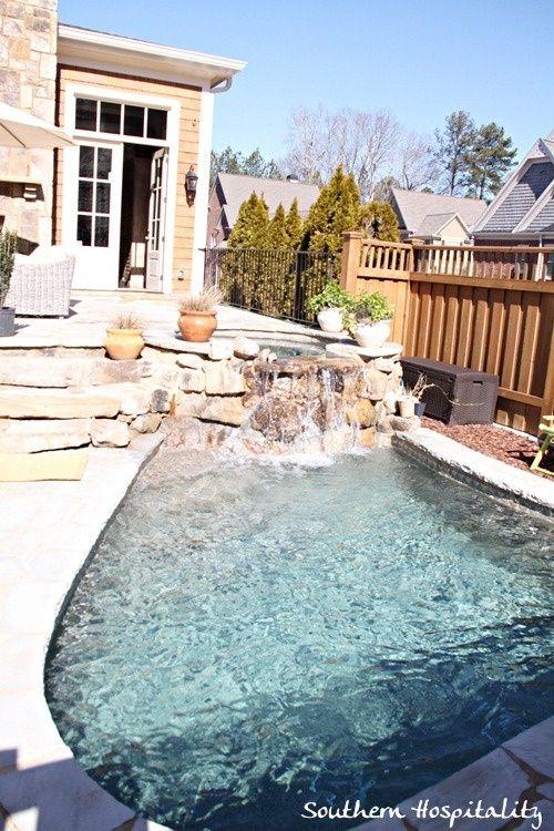 Small pool piscinas peque as pinterest piscina for Cascadas prefabricadas