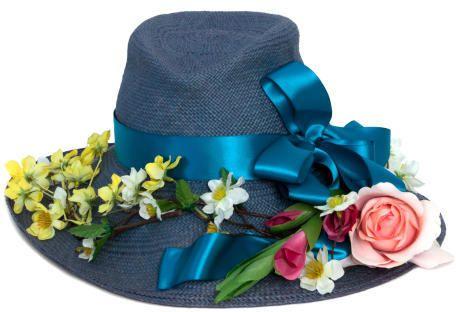 Lisa Battaglia Denim Derby Hat from Boticca on shopstyle.co.uk