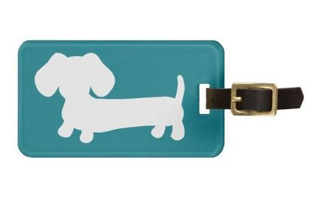 Dachshund Luggage Bag Tags | Lots of Colors - The Smoothe Store - 3