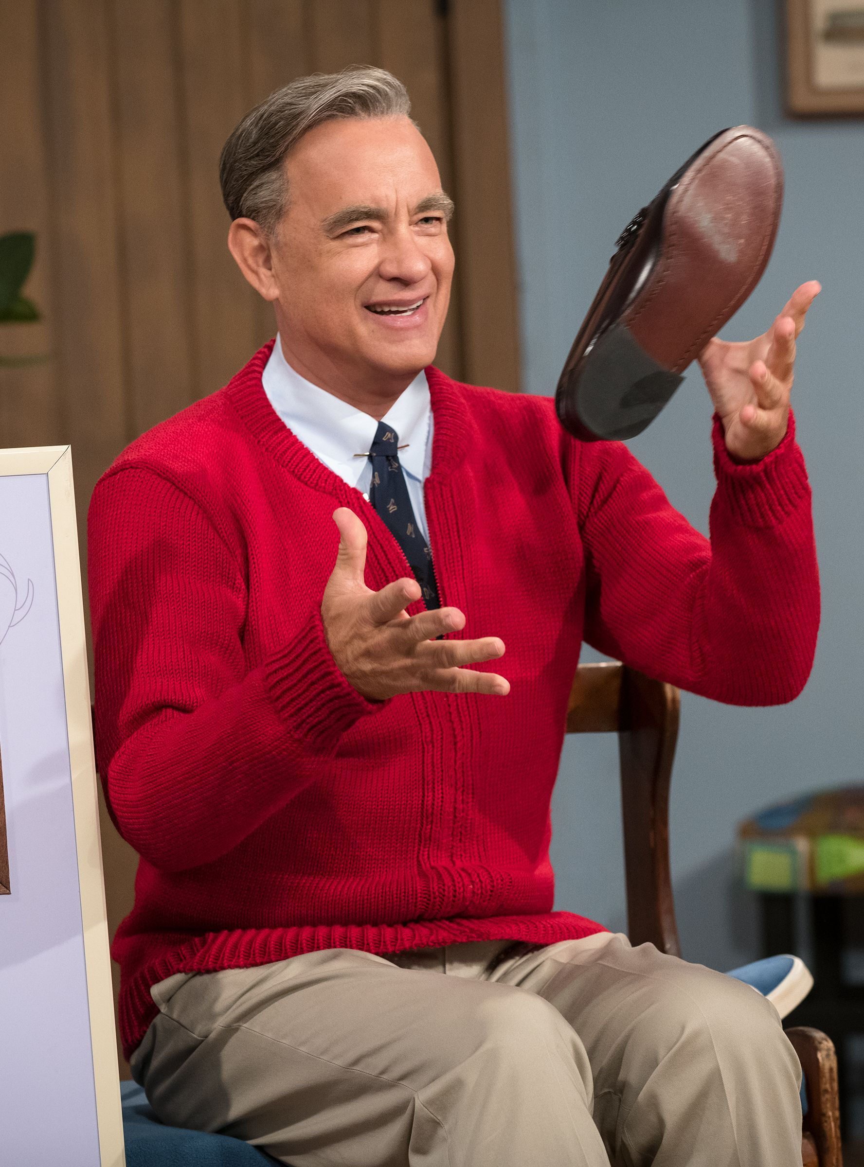 Tom Hanks In The New Mr Rogers Trailer Will Make You Weepy With Images Tom Hanks Mr Rogers Movie Tom Hanks Movies