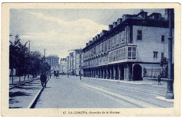 Bonita Postal La Coruña Avenida De La Marina Fotos Antiguas A Coruña Fotos
