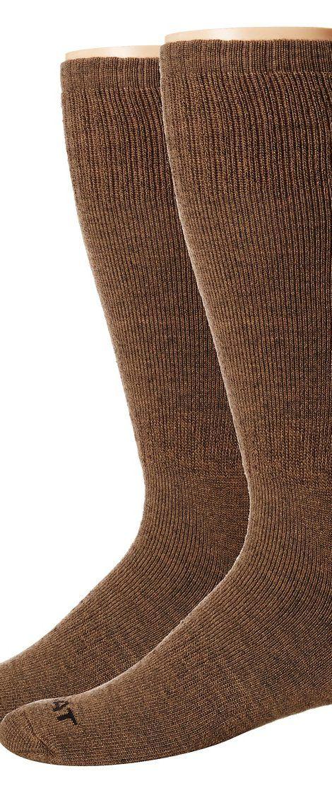 18a79e6f1 Ariat Merino Hunting 2-Pack Socks (Brown) Men s Crew Cut Socks Shoes ...