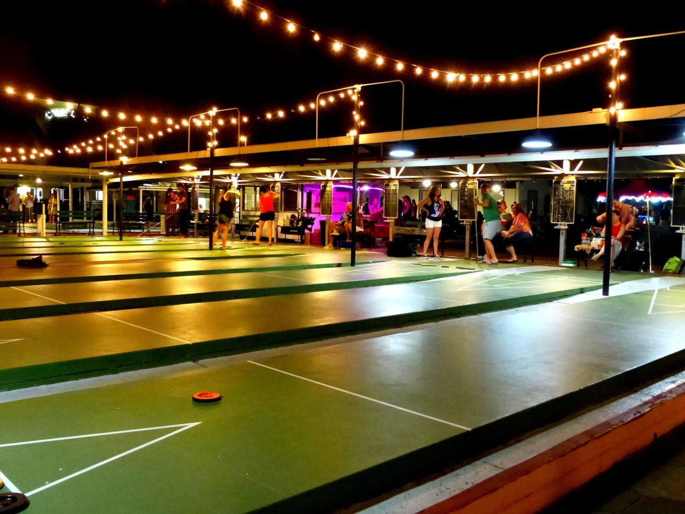 Head Over To St Petersburg Shuffleboard Club For Free Shuffle Fridays In Downtown St Pete This Is A Great Famil Garage Game Rooms Shuffleboard Outdoor Games