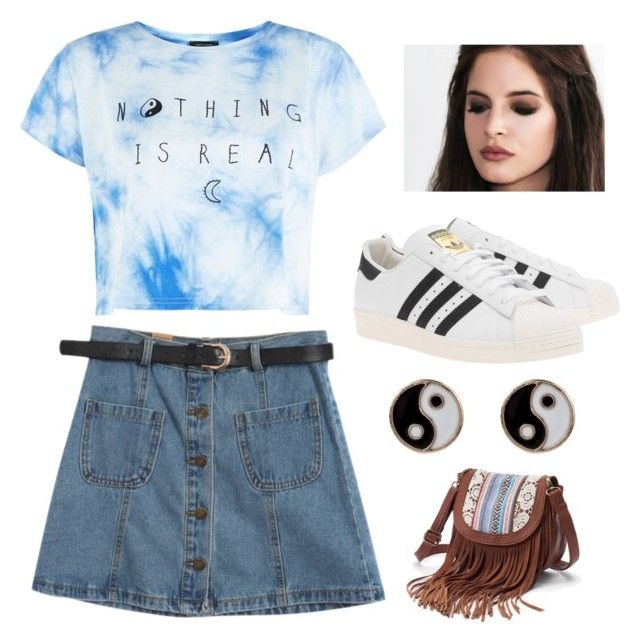 """Без названия #14"" by alsu-saitova ❤ liked on Polyvore featuring Chicnova Fashion, adidas Originals, Accessorize and Mudd"
