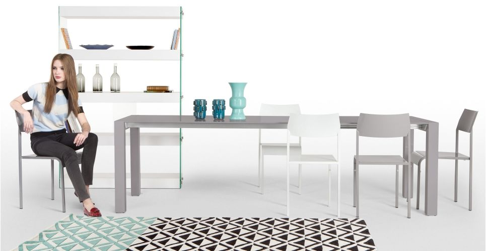 Bramante Extending Dining Table In Grey Made Com Dining Table Extendable Dining Table Dining Table Bases