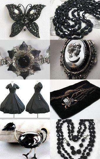 Wonderful Black Vintage Sparkle!