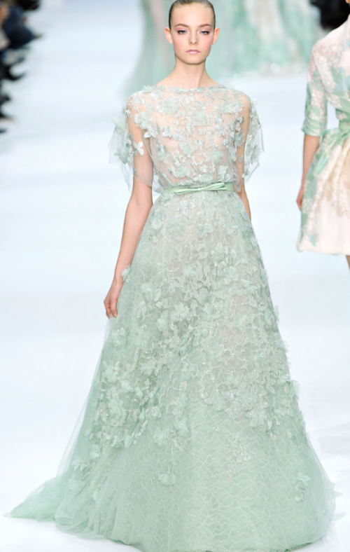 Elie Saab Couture Mint Green With Delicate Overlay Wedding Event Full Size Of Dress Look Alike Dresses