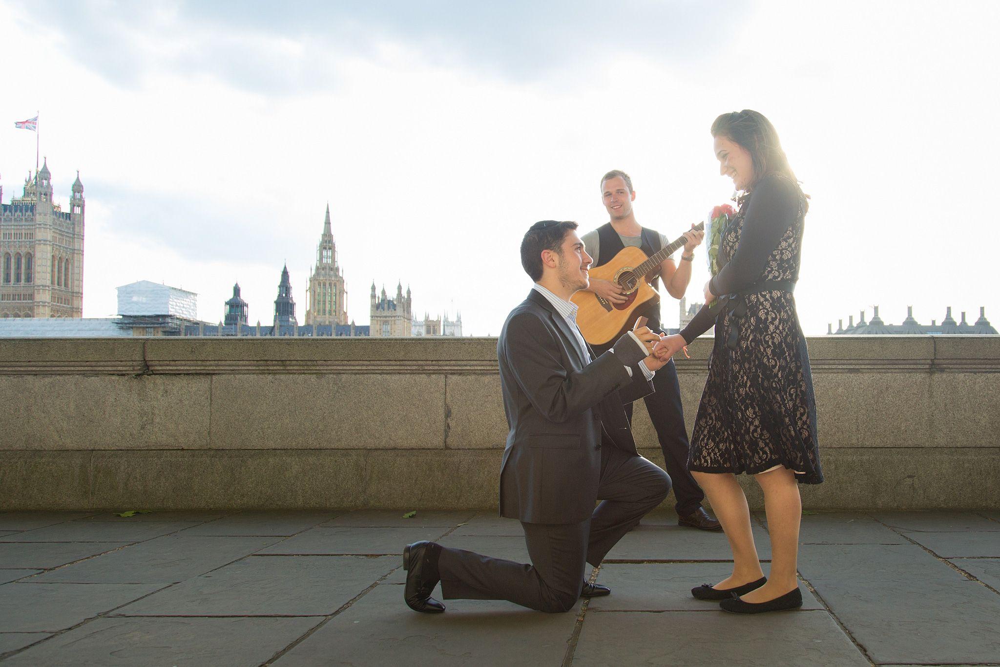 Surprise proposal in London