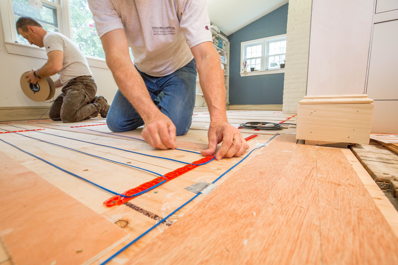 Radiant floor heating laminate wood flooring