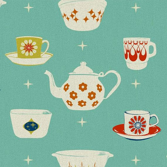 Melody Miller  Ruby Star Rising  Vintage Teacups, Mint