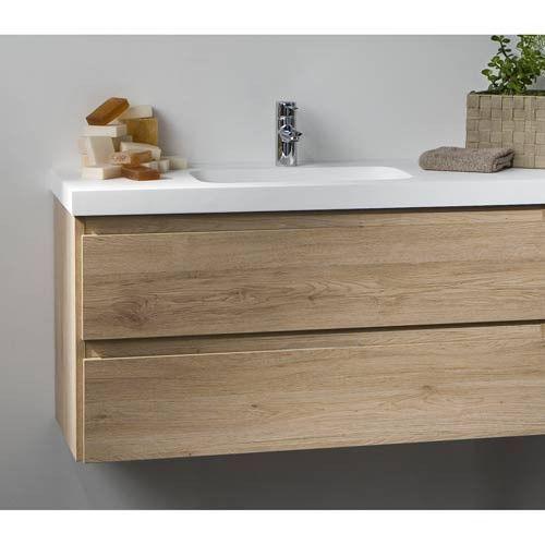 Mueble de ba o line complet roble decoraci n pinterest for Gabinete de almacenamiento de bano de madera