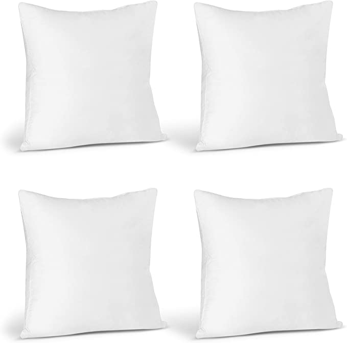 Amazon Com Utopia Bedding Throw Pillows Insert Pack Of 4 White 16 X 16 Inches Bed And Couch Pillows In In 2020 Throw Pillow Inserts Couch Pillows Throw Pillows