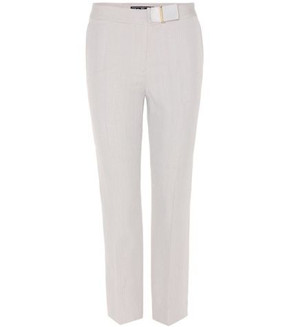 Cropped cotton-blend pants Salvatore Ferragamo lwOzAKWDsU