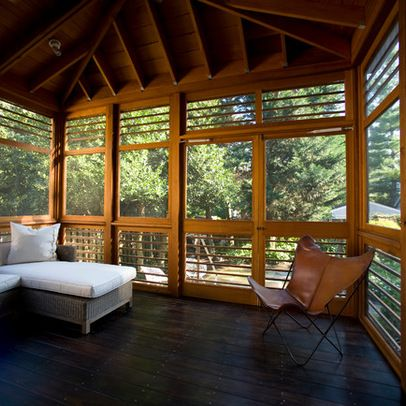 Modern home screened porches design ideas pictures for Modern screened porch