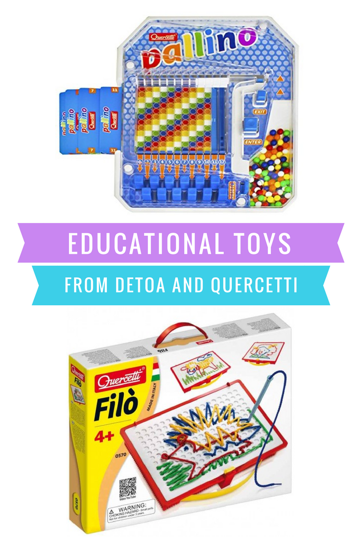 We love playing Educational Toys. Check out these Great Creative Toys from DETOA and Quercetti.