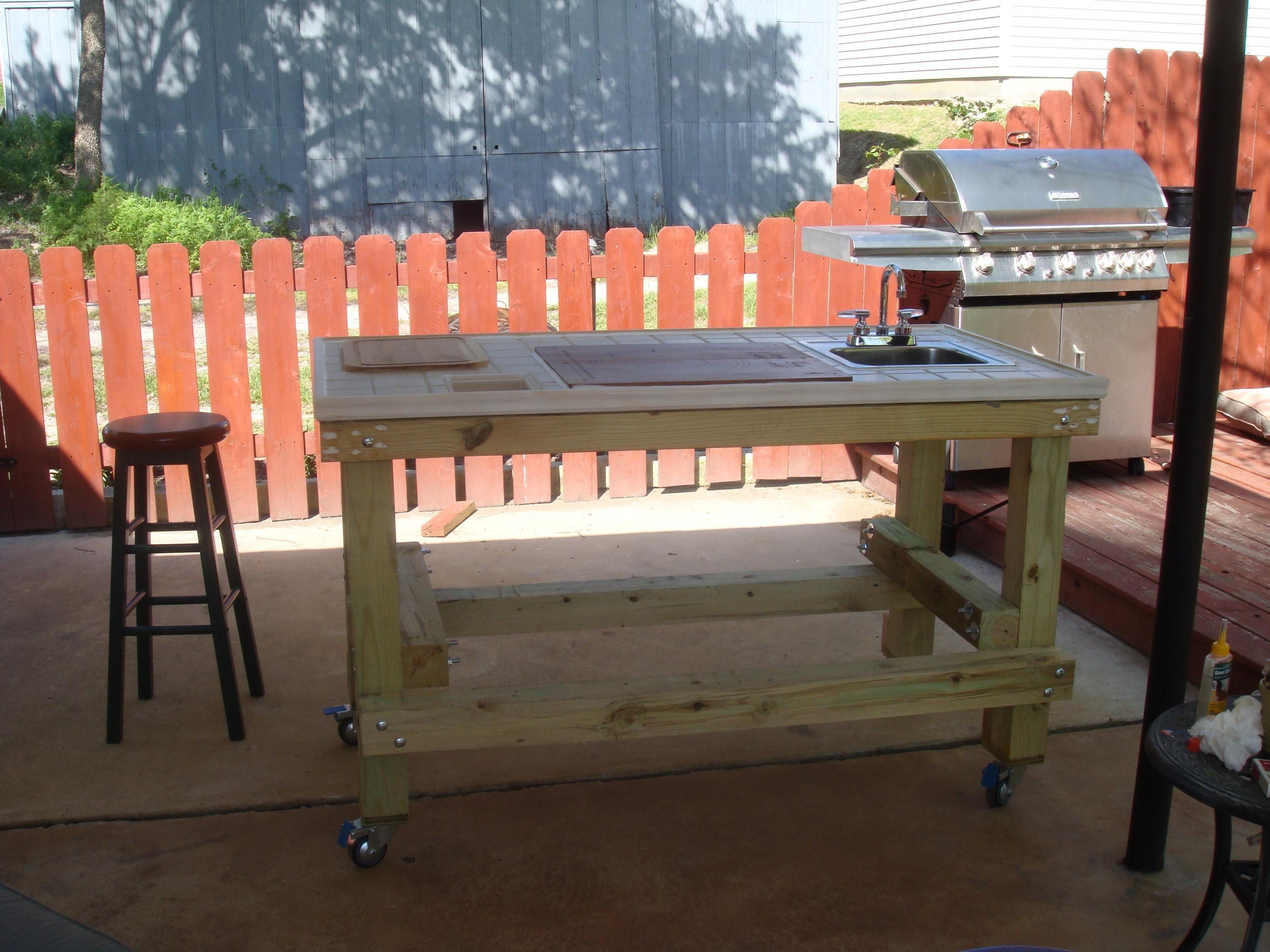 Outdoor Grill Prep Cart Kitchen Sink Design Sink Design Indoor Outdoor Kitchen