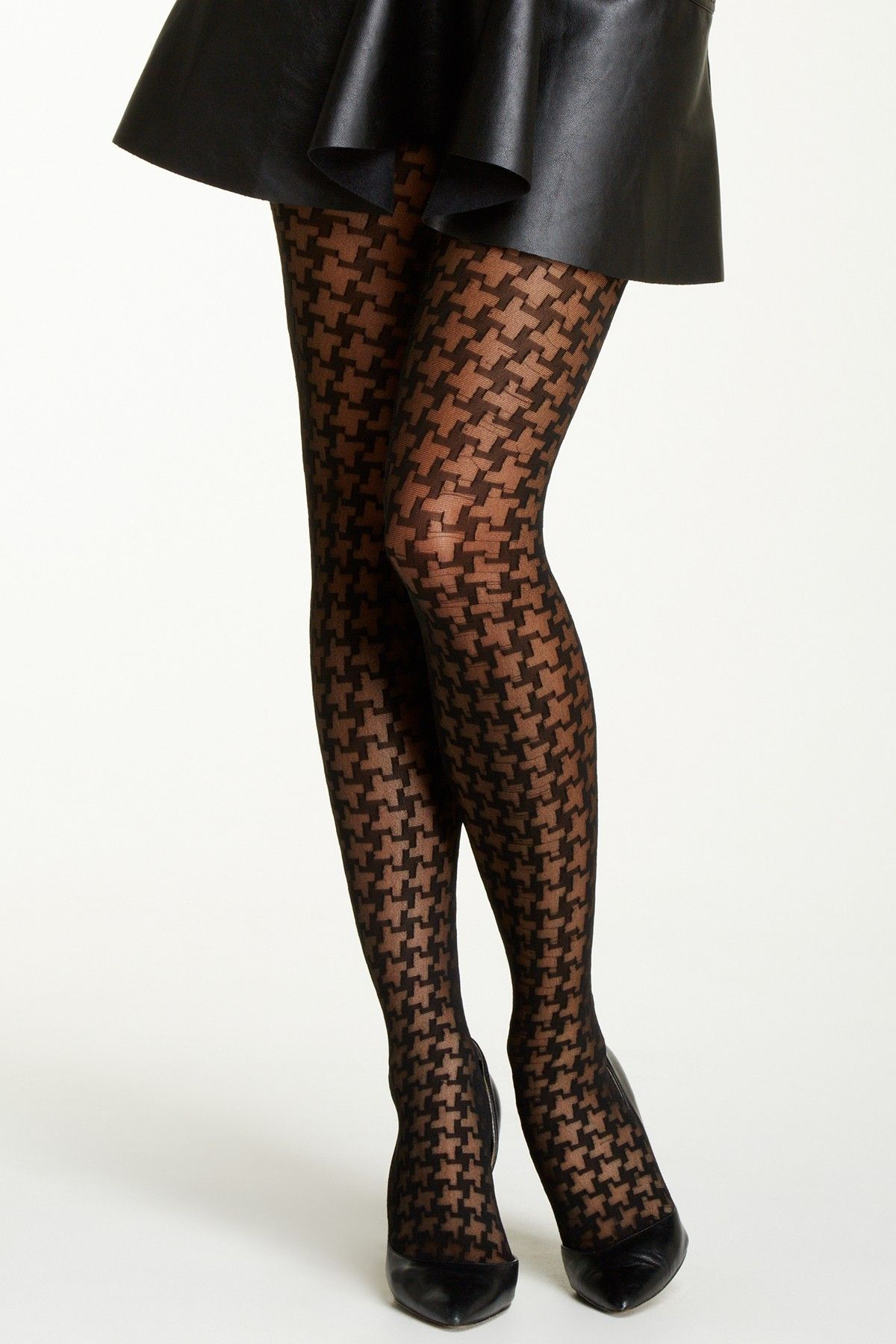 Houndstooth Tights by Free Press on @nordstrom_rack