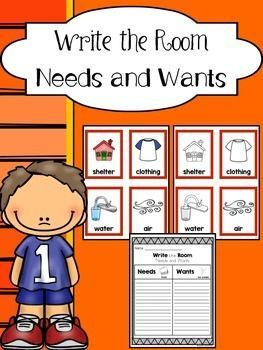 Write the Room - Needs and Wants Sort