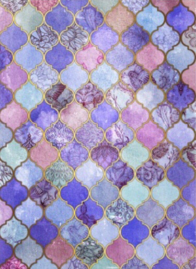 Phone Background Sala Vintage Pattern Art Color Patterns Tile Print