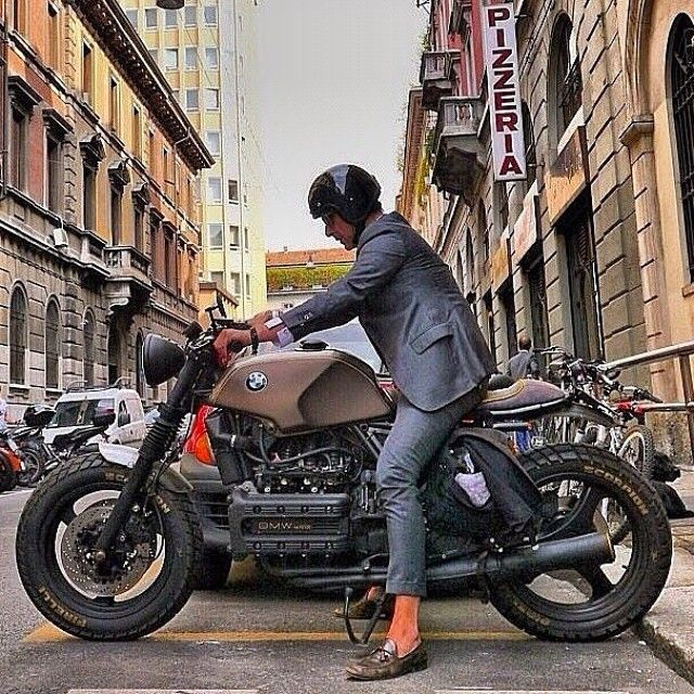 Attitude... #BuildYourOwnStyle #Menswear #Italy #MadeOfItalians #DiscoverItaly #Milano #elegance #sprezzatura #connoisseur #inspiration #research #details #GWD #cafeRacer #bike #bikelife #biker #naked #suit #stylish #TwoWheelsThrill