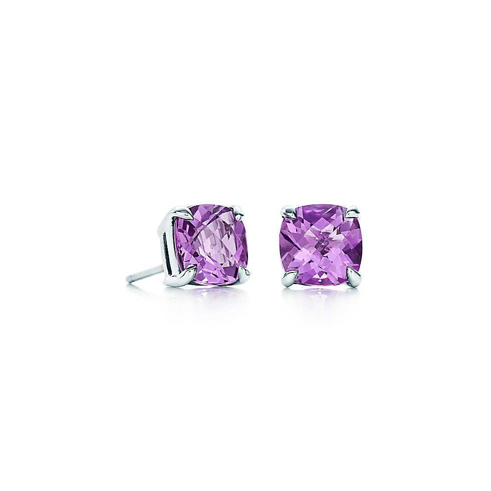 Tiffany Sparklers Amethyst Earrings In Sterling Silver