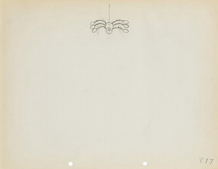 Sequential Drawings of a Dancing Spider from Mother Goose Melodies