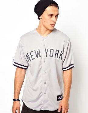 5414b60cf Majestic NY Yankees Baseball Jersey - Gray | Cool Things | Baseball ...