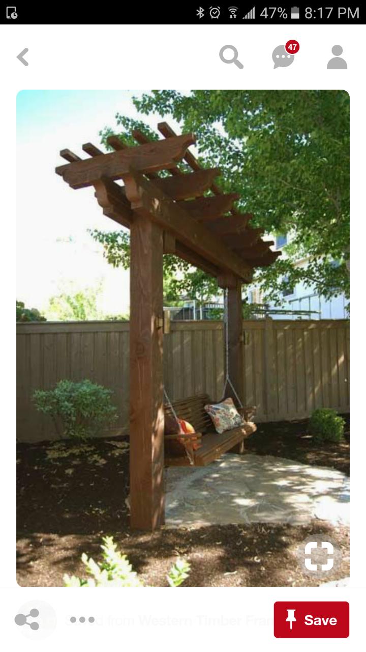 Pin By Mariagtorres On Mom Outdoor Pergola Arbor Swing Pergola