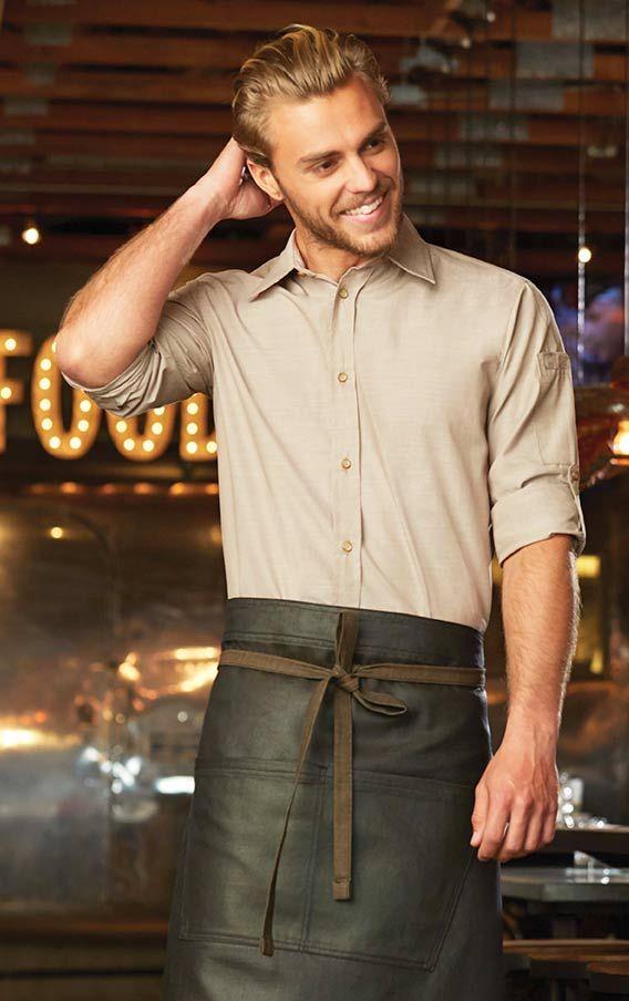506785db CHAMBRAY Server Shirt for Men | DIY | Restaurant uniforms, Waiter ...