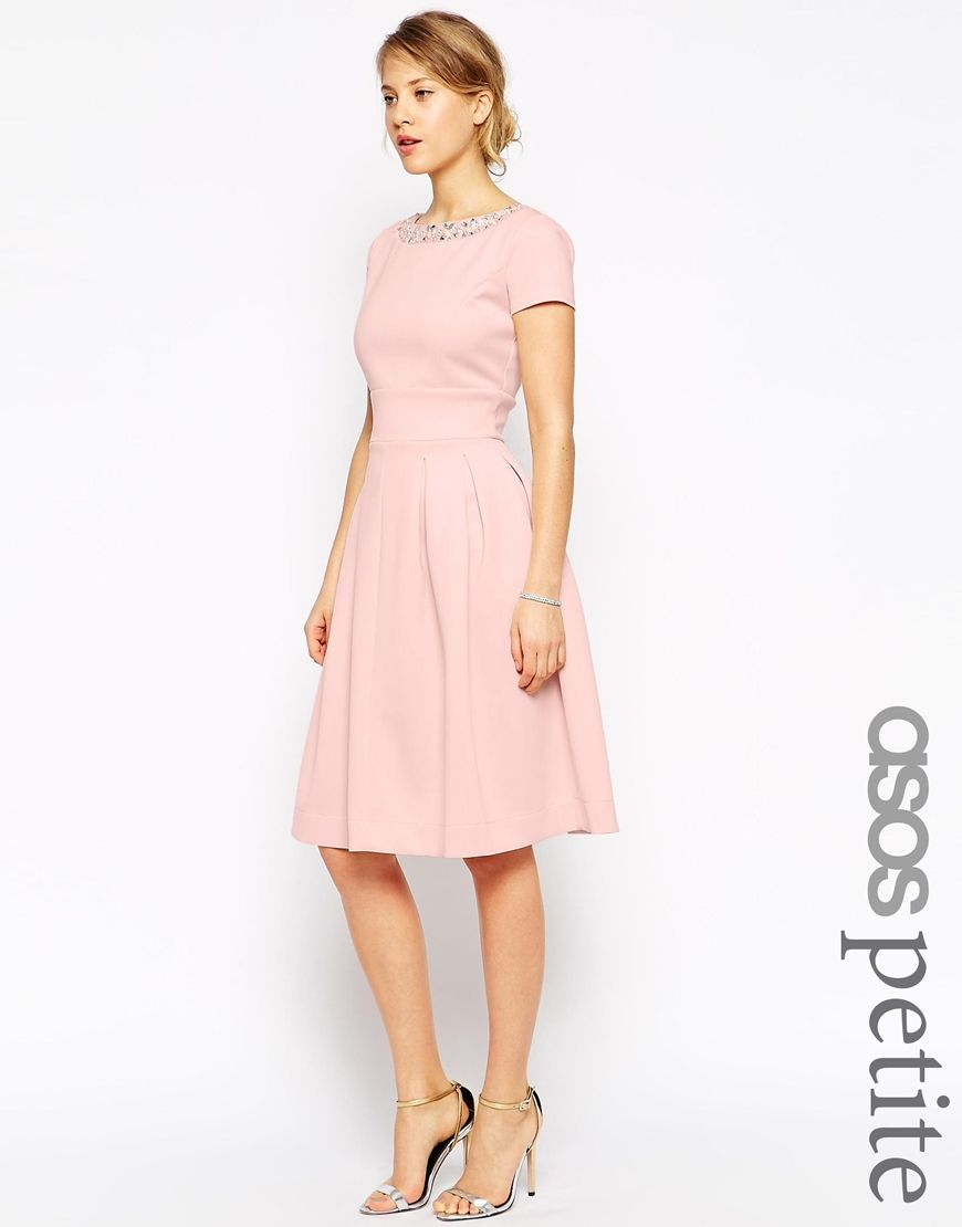 ASOS+PETITE+Debutante+Dress+With+Embellished+Neck PERFECT for a ...