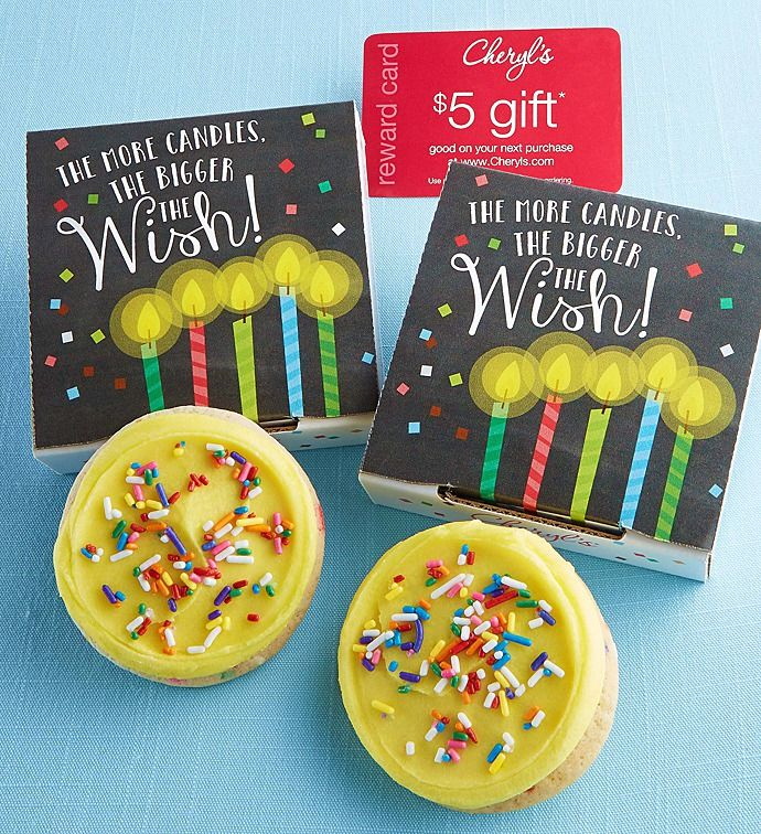 More Candles Bigger Wish Cookie Card Birthday cake cookies 800