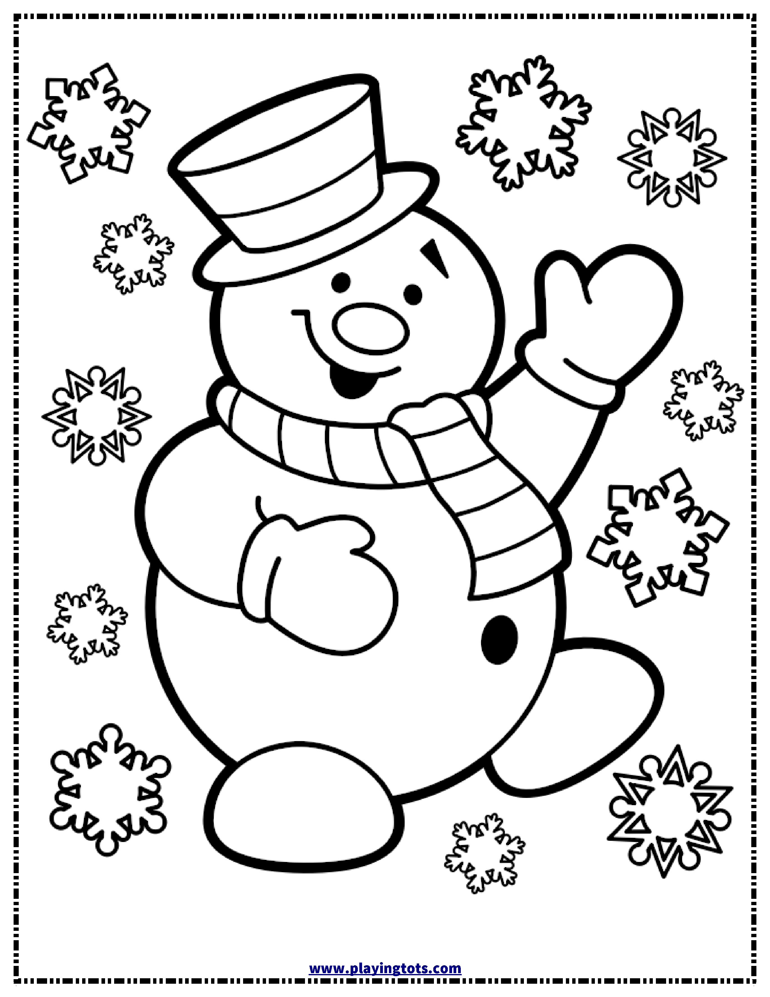 free christmas snowman coloring page | free printable for coloring