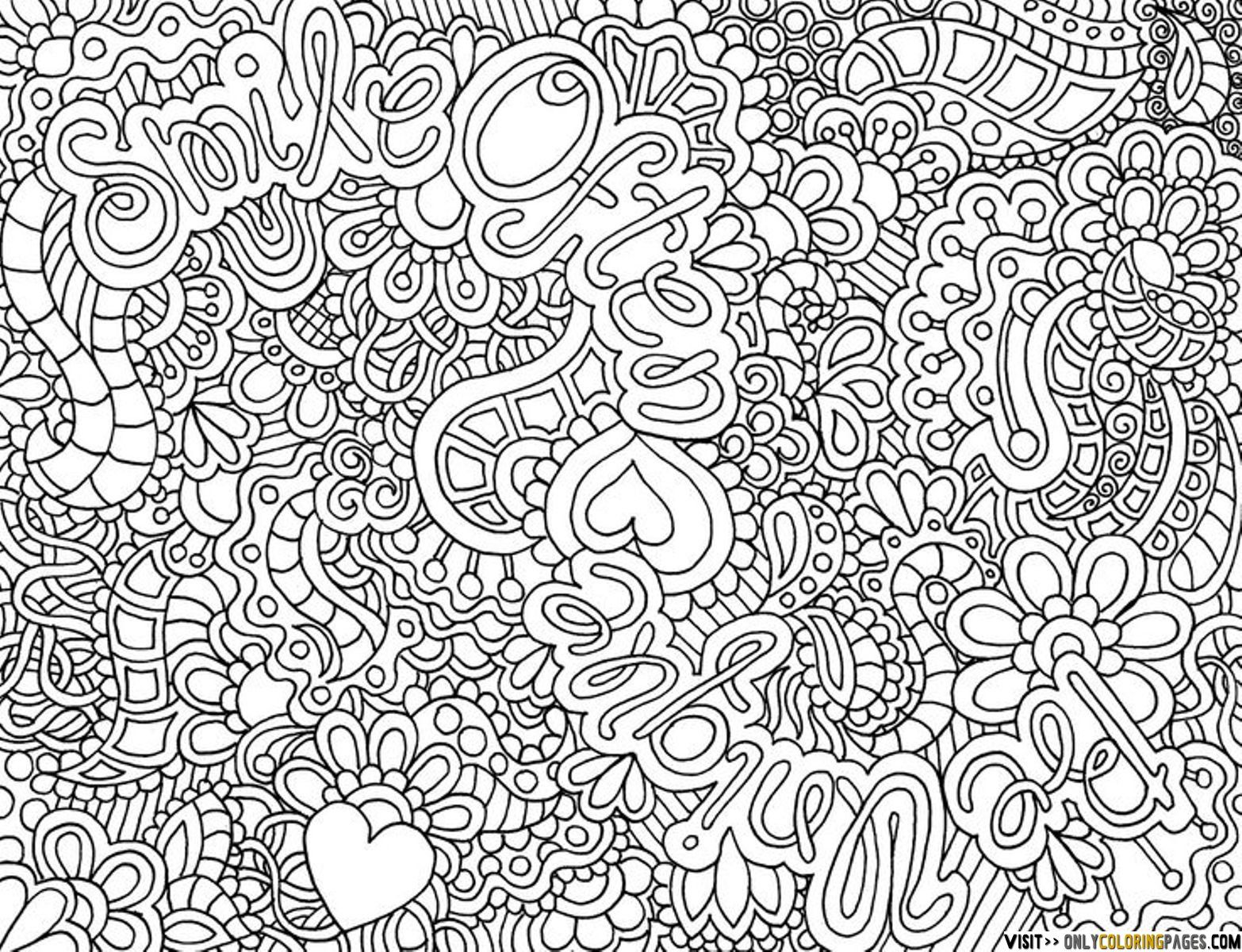 Coloring Pages Of Flowers For Teenagers Difficult Detailed Coloring Pages Coloring Pages For Teenagers
