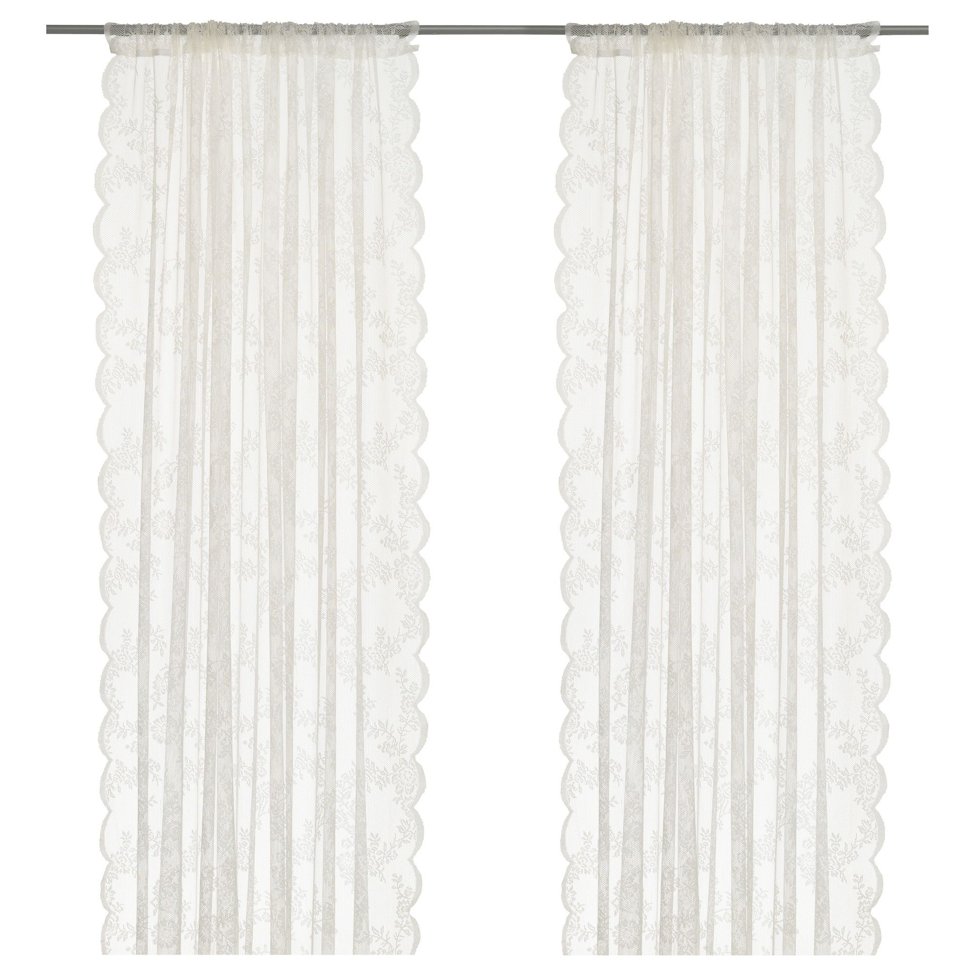 Net Curtains For Living Room Alvine Spets Lace Curtains 1 Pair Off White Runners White