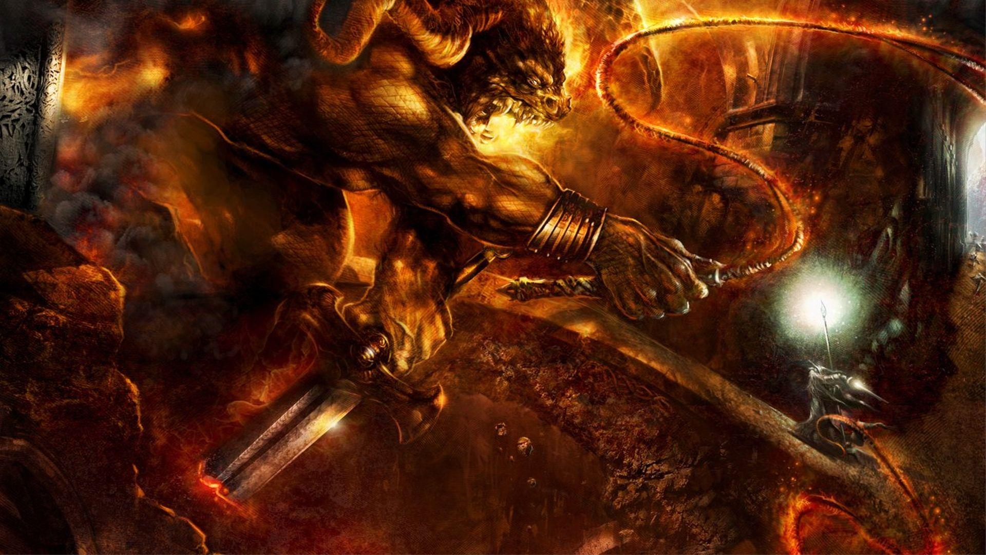 Stunning Artwork Lord Of The Rings Balrog Gandalf