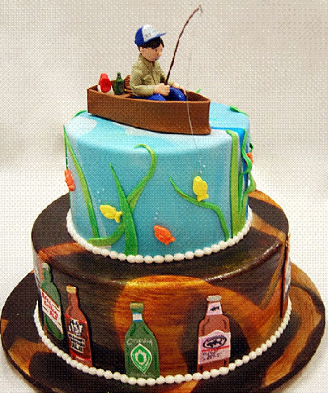 Super Groomscake Gone Fishing With Images Grooms Cake Fishing Fish Funny Birthday Cards Online Elaedamsfinfo