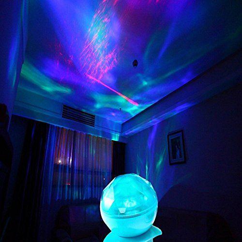 LED Aurora Projektor-Ozean dynamischen Schlaf Nachtlicht-Lampen - led lampen wohnzimmer