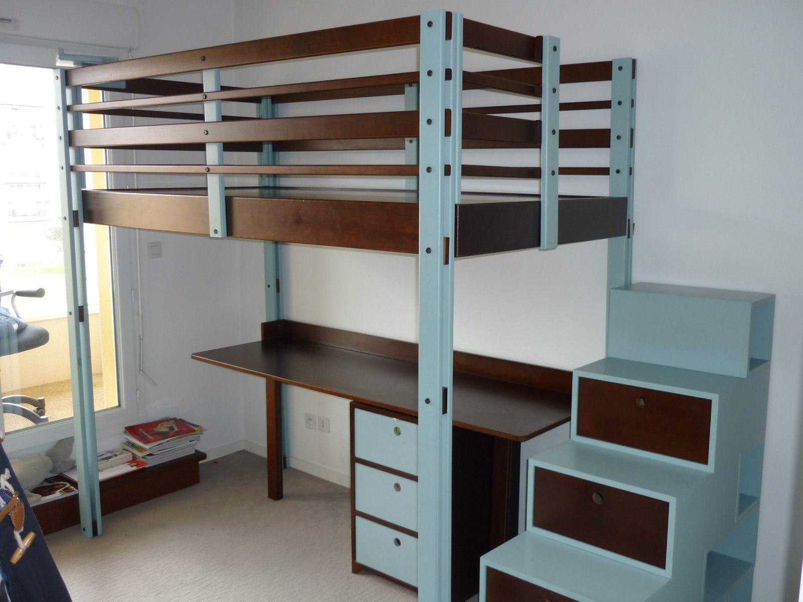 lit bureau mezzanine armoire pour petits espaces. Black Bedroom Furniture Sets. Home Design Ideas